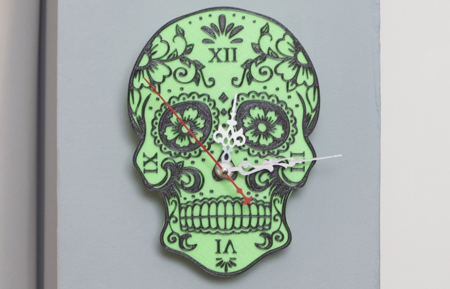 sugarskull wall clock copy