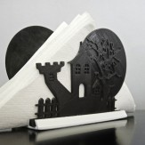 HALLOWEEN – haunted house napkin holder