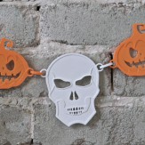 HALLOWEEN – happy skull chain deco