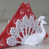 PEACOCK napkin holder