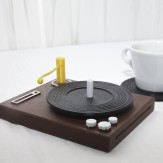The Shookers record coasters & stand